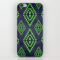 Navy & Lime Tribal Inspi… iPhone & iPod Skin