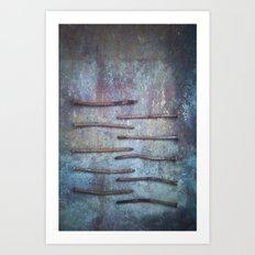 Ten Nails Art Print