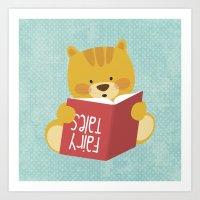 Fairy Tales, Teddy Bear Art Print
