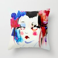 Water Color Sketch Throw Pillow