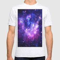 Purple Blue Galaxy Nebula Mens Fitted Tee Ash Grey SMALL