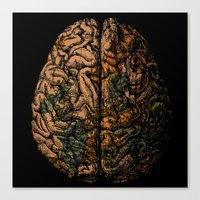 Always On My Mind - Brain Traveling Wanderlust Love Travel Canvas Print