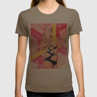 Untitled 006 Womens Fitted Tee Tri-Coffee SMALL