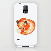 Galaxy S5 Cases featuring fox by Carrie Booth