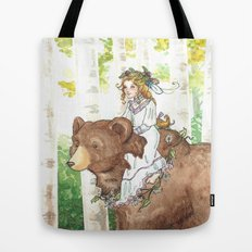 Bear Maiden Tote Bag