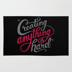 Creating Anything is Hard Rug