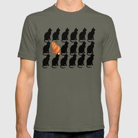 ODD CAT OUT Mens Fitted Tee Lieutenant SMALL