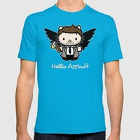 Hello Assbutt Mens Fitted Tee Teal SMALL
