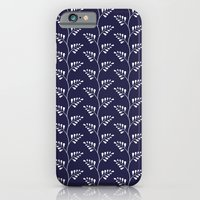 Blue & White Ferns iPhone 6 Slim Case
