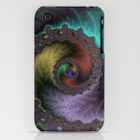 iPhone 3Gs & iPhone 3G Cases featuring Fractal Spiral by Harvey Warwick