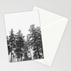 simply trees in winter Stationery Cards