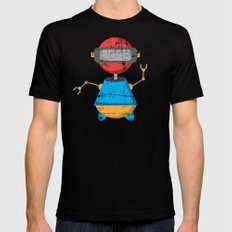 ROBOT SI Black SMALL Mens Fitted Tee