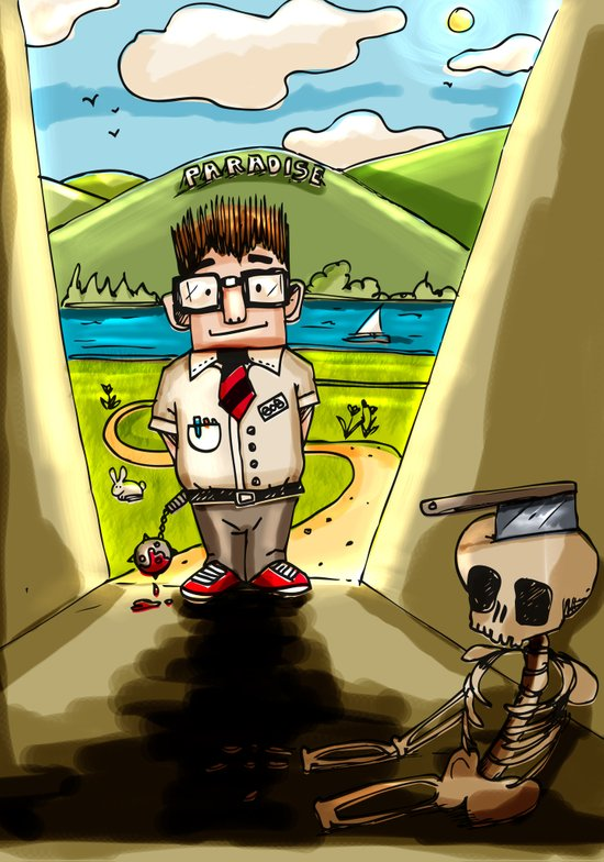 Enemy at the (Bill) Gates Canvas Print