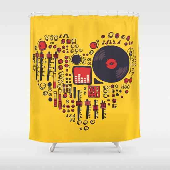 Music in every heartbeat Shower Curtain