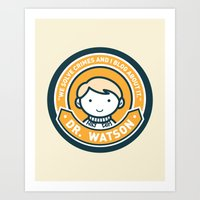 Cute John Watson - Orange Art Print