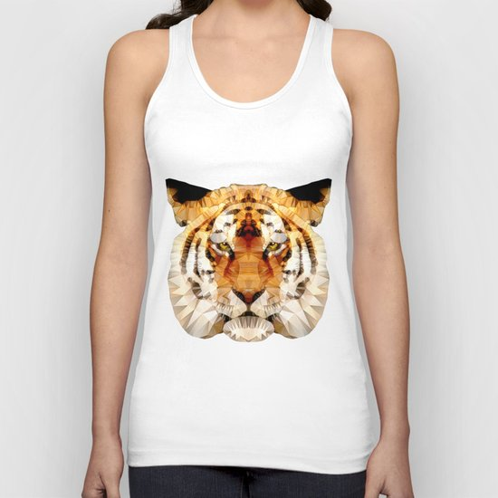 abstract tiger Unisex Tank Top