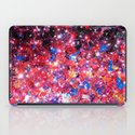 WRAPPED IN STARLIGHT Bold Colorful Abstract Acrylic Painting Galaxy Stars Pink Red Purple Ombre Sky iPad Case