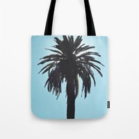 Palm Tree Silhouette Tote Bag