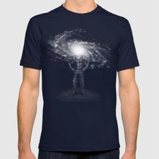 Mr. Galaxy Mens Fitted Tee Navy SMALL