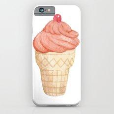 Watercolour Illustrated Ice Cream - Tangerine Chiller iPhone 6 Slim Case