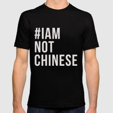 #IAMNOTCHINESE Black Mens Fitted Tee SMALL