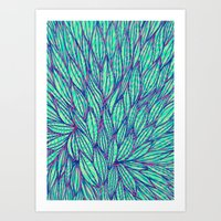 Natural Leaves Art Print