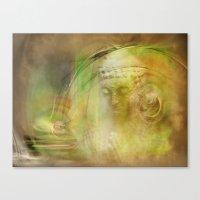 Buddha Illustration Canvas Print