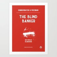 BBC Sherlock The Blind Banker Minimalist Poster Art Print