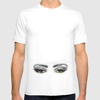 Eyes Mens Fitted Tee White SMALL