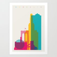Shapes of Brooklyn. Accurate to scale Art Print