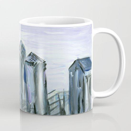 Gray Philadelphia Skyline Mug