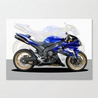 Yamaha R1 Blue Canvas Print