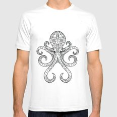 Mandarin Dragonet Octopus White SMALL Mens Fitted Tee