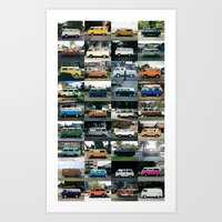 Curbside VW Micro Bus - 2015 Collection Art Print