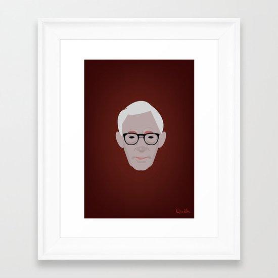 Portrait: Woody Allen Framed Art Print
