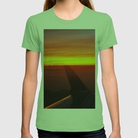 Sunset At 30,000 Feet Womens Fitted Tee Grass SMALL