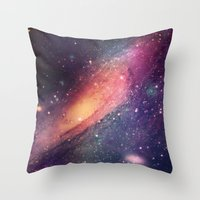 Galaxy Colorful Throw Pillow