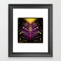 Kaleidoscope Palm Framed Art Print