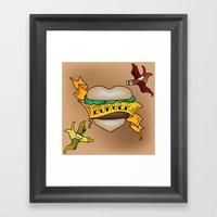 Burger Tattoo Framed Art Print