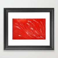 Red Tide Sea Grass Framed Art Print
