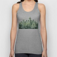 Seattle Watercolor Painting Unisex Tank Top
