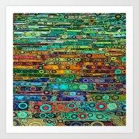 :: Technicolor Walkway :… Art Print
