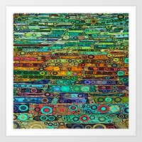 :: Technicolor Walkway :… Art Print