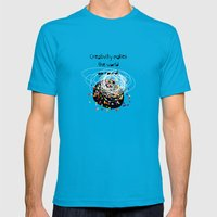 Creativity Makes The Wor… Mens Fitted Tee Teal SMALL