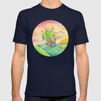 Land Of Ooo Mens Fitted Tee Navy SMALL