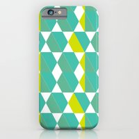 iPhone & iPod Case featuring Retro Hexagon by fable design
