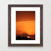 Summer Sunset in Bright Colours Framed Art Print