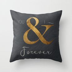 Typography Forever  Throw Pillow