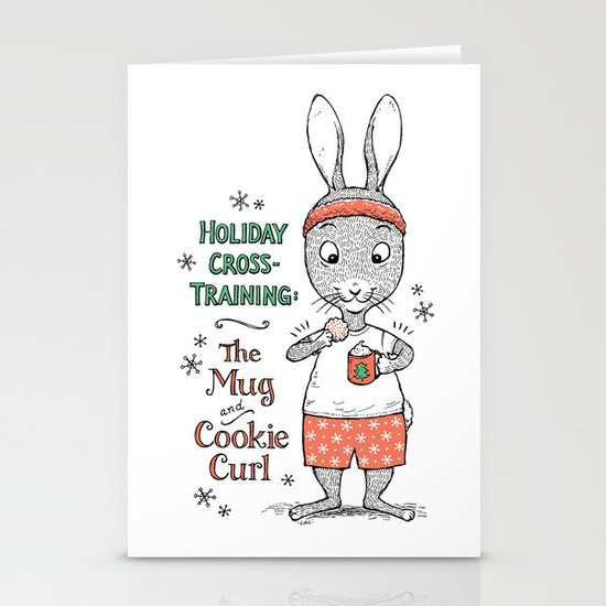 Holiday Curls Stationery Card
