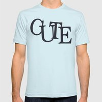 CUTE Mens Fitted Tee Light Blue SMALL
